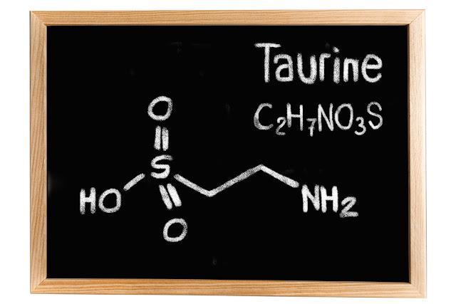 Blackboard with the chemical formula of Taurine